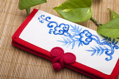 Canvas purse, Chinese style Royalty Free Stock Photos