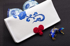 Canvas purse, Chinese style Stock Photo