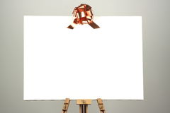 Canvas with ribbon Stock Photos