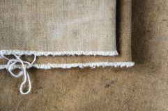 Canvas, rough fabric khaki fabric Stock Images