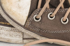 Canvas Shoe Detail Royalty Free Stock Image