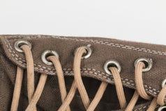 Canvas Shoe Detail Stock Photography