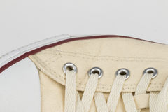 Canvas Shoe Detail Stock Photo