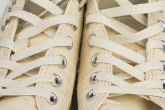 Canvas Shoe Detail Royalty Free Stock Images