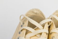Canvas Shoe Detail Stock Photography