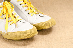 Canvas shoes Stock Photo
