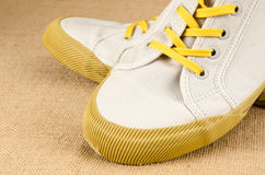Canvas shoes Stock Images