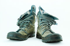 Canvas shoes mud dirty Royalty Free Stock Photo
