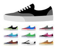 CANVAS SHOES. Vector and Illustration Royalty Free Stock Photos