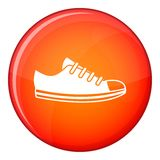 Canvas sneaker icon, flat style Stock Images