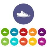 Canvas sneaker set icons Stock Photography