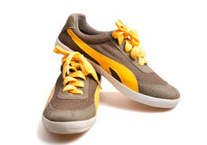 Canvas sneakers Stock Images