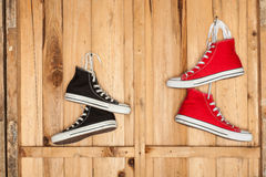 Canvas sneakers Stock Photography