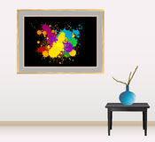 Canvas with splash design Stock Photo