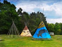 Canvas Teepee, Wigwam stock photography