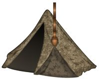 Canvas tent illustration with clipping path. This is a Canvas tent illustration with clipping path Stock Images