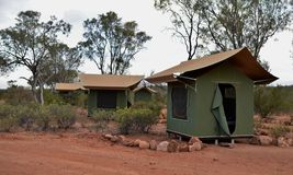 Canvas Tents in Outback Australia. Stock Images