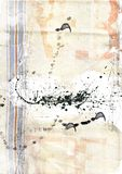 Canvas texture. With stains and cool dirty forms Royalty Free Stock Photo