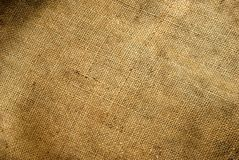 Canvas texture. Background old  sack by a large plan Royalty Free Stock Photos