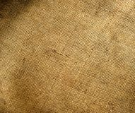 Canvas texture. Background old  sack by a large plan Stock Image
