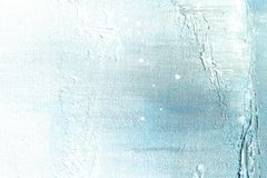 Canvas texture background with abstract blue colorful art painting. Close-up image high resolution royalty free stock photography