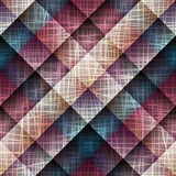 Canvas texture on plaid background Royalty Free Stock Photos