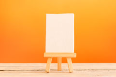 Canvas on a tripod Royalty Free Stock Images