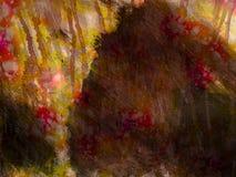 Canvas van het Gebroken Dromen Schilderen Royalty-vrije Stock Foto