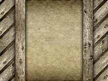 Canvas and wood background Stock Photography
