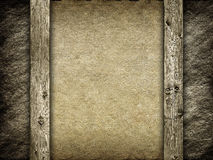 Canvas and wood background Royalty Free Stock Images