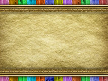 Canvas and wood - background template Royalty Free Stock Image