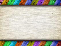 Canvas and wooden planks Royalty Free Stock Images