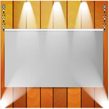 Canvas and wooden wall Royalty Free Stock Images