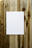 Canvas Wrap on Wooden Wall. A 16x24 canvas wrap for painting hanging vertically on a wooden wall Royalty Free Stock Image