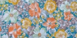 Canvasbloemen royalty-vrije stock afbeelding