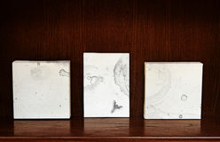 Canvases on a shelf Stock Photography