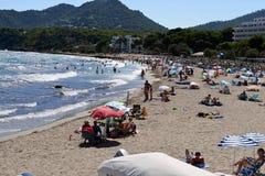 Canyamel Beach Life. Beach Life at Canyamel, Mallorca, Spain Royalty Free Stock Images
