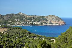Canyamel Coast. At Mallorca, Spain Stock Image