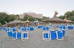 Canyamel zandig strand Royalty-vrije Stock Afbeeldingen