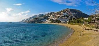 Canyelles beach panorama Royalty Free Stock Image