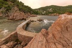 Canyet, Costa Brava, Spain Stock Images