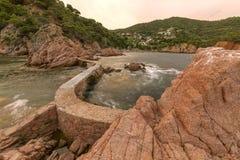 Canyet, Costa Brava, Spanien stockbilder