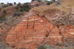 Canyon érodé de duro de palo de formation de roche sédimentaire images stock