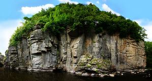 Canyon. Panorama of a part of natural small canyon in village Buky, Ukraine Royalty Free Stock Photo