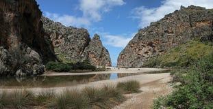 Torrent de Pareis canyon , Mallorca , Spain Royalty Free Stock Photography