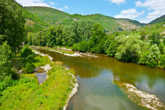 Canyon. River at the Bottom of Canyon in the French Alps Royalty Free Stock Photography