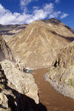 Canyon. It is a river in the canyon. it is in Tebit of China Royalty Free Stock Photography