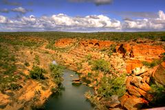 Canyon. From the murchison river west-australia royalty free stock photo