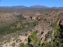 Canyon. Frijoles Canyon, Bandelier National Monument, New Mexico, USA Royalty Free Stock Images