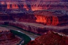 Canyon. Red rock canyon at sunrise royalty free stock photo